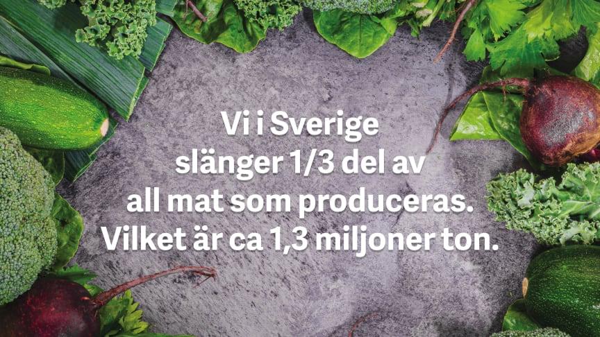 Vi i Sverige slänger ca 1,3 miljoner ton mat varje år.