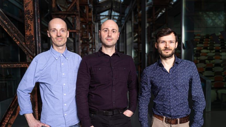 Dank des EXIST-Gründerstipendiums und der Unterstützung der TH Wildau können Martin Kern, Vincenzo De Rocchis und Wilhelm Gossing (von links nach rechts) von KYKEON Biotech ihre alternative Technologie weiterentwickeln. (Bild: Agentur FaitSchlichter)