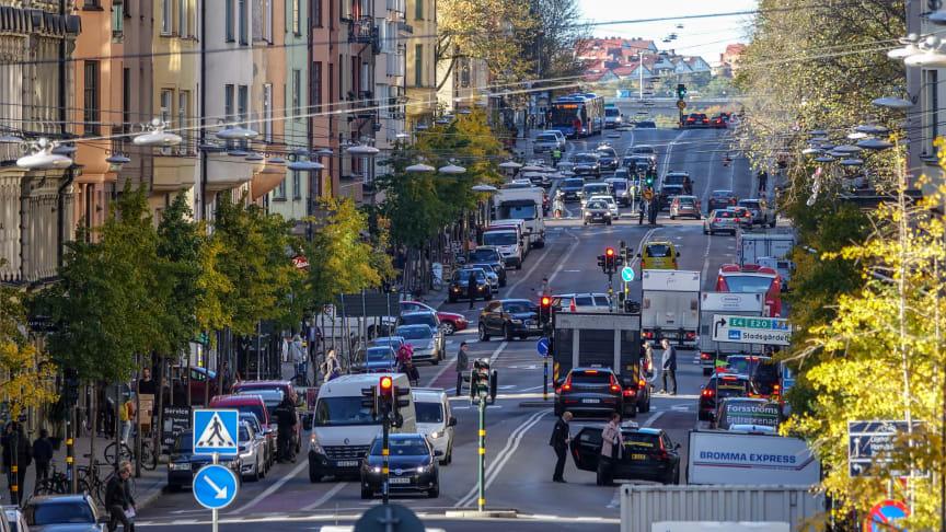 Sedan den 15 januari i år är bilar som inte uppnår utsläppsklass 5 förbjudna på Hornsgatan på Södermalm i Stockholm.