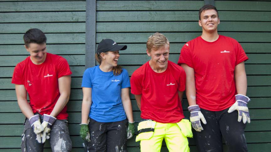 Varje sommar anställer Stena Fastigheter 300 sommarjobbare mellan 16 och 20 år.