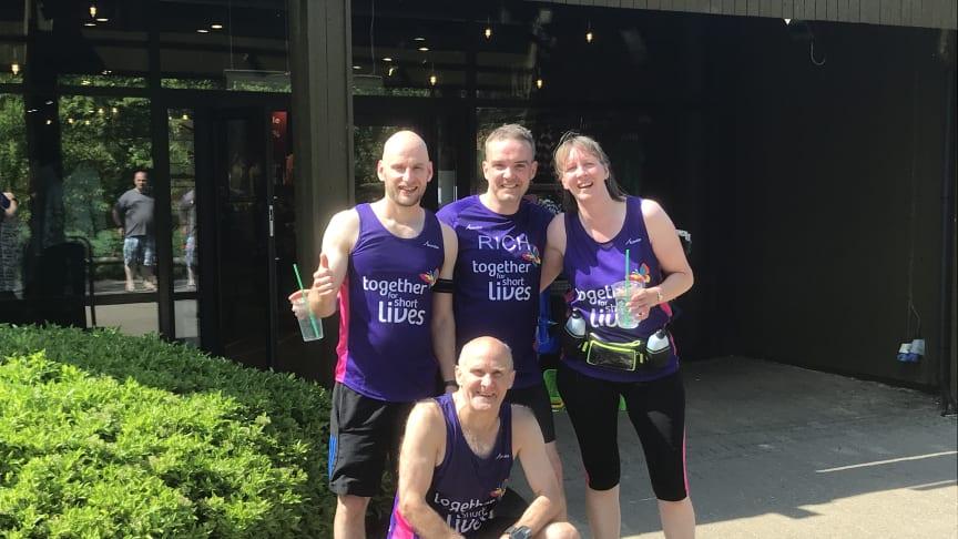 A Longleat Forest team ran a marathon distance around the hilly village