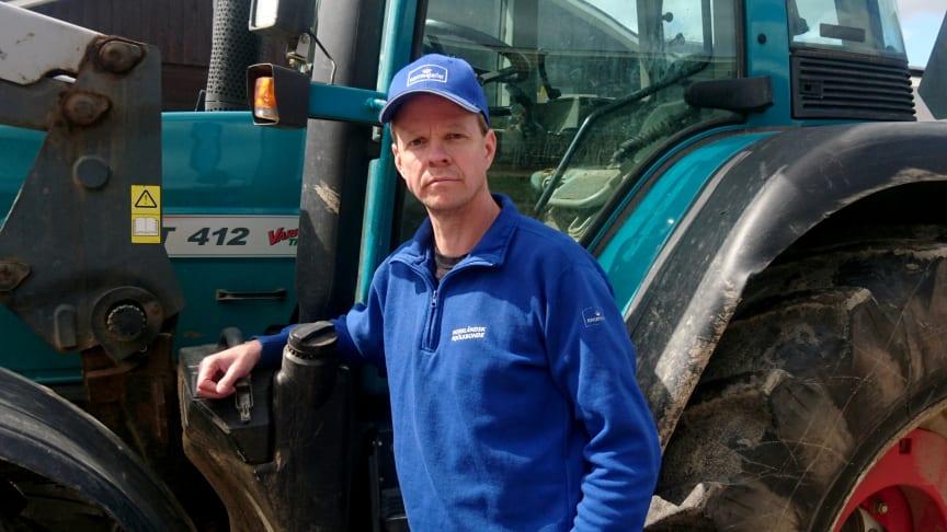 Henrik Wahlberg, mjölkbonde i Soukolojärvi, Norrbotten och Norrmejeriers styrelseordförande. Foto: Viktoria Luttu Wahlberg