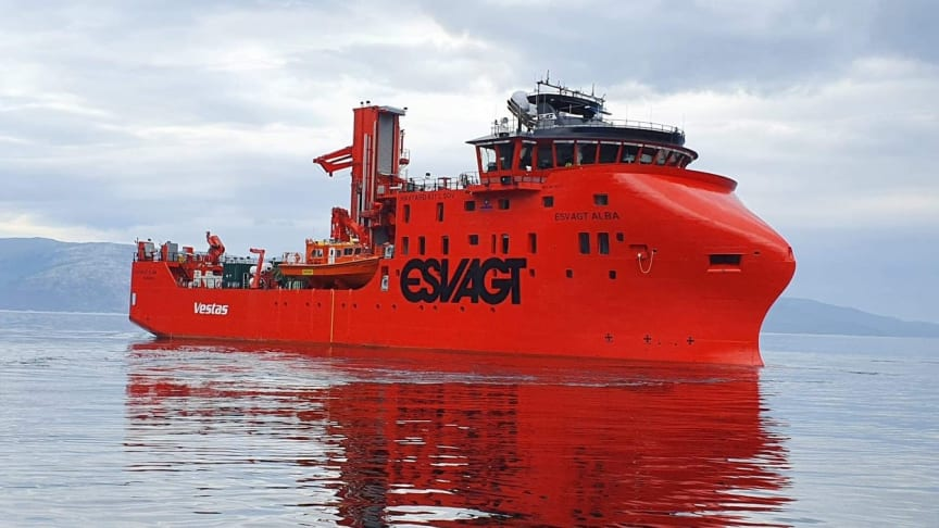 ESVAGT's newbuilt 'Esvagt Alba' will be the base for the operation and maintenance of the Moray East Offshore Windfarm off the coast of Scotland. 'Esvagt Alba' calls on Fraserburgh Harbor Thursday for the last Marine Surveys ahead of commencing work
