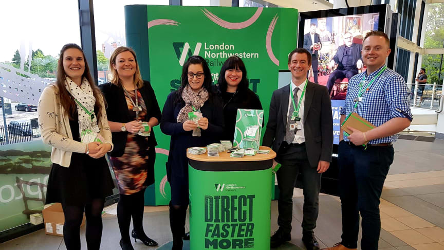 London Northwestern Railway management have been at stations to inform customers about upcoming timetable changes
