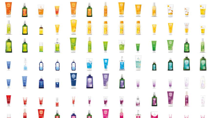 Produktutbud i naturens hela färgpalett