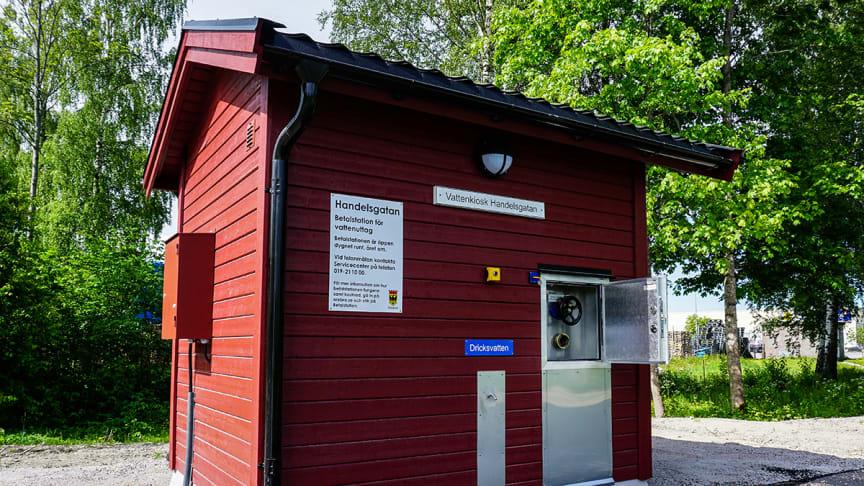 Den nya betalstationen vid Handelsgatan. Foto: Emma Nilsson.