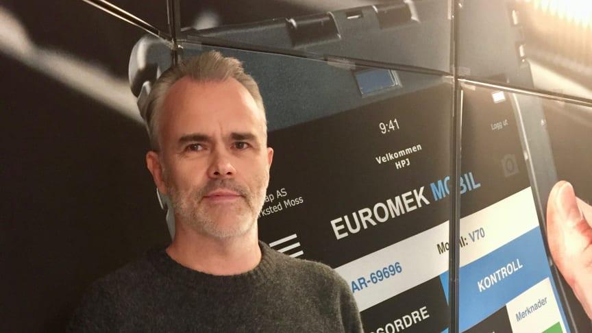 Daglig leder Hans Petter Jensen ser frem til prelansering på Automessen og gleder seg til å vise frem den nye programvaren for EU-kontroll.