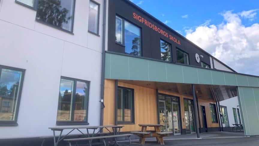Sigfridsborgs skola i Nacka inviger helt ny skolbyggnad