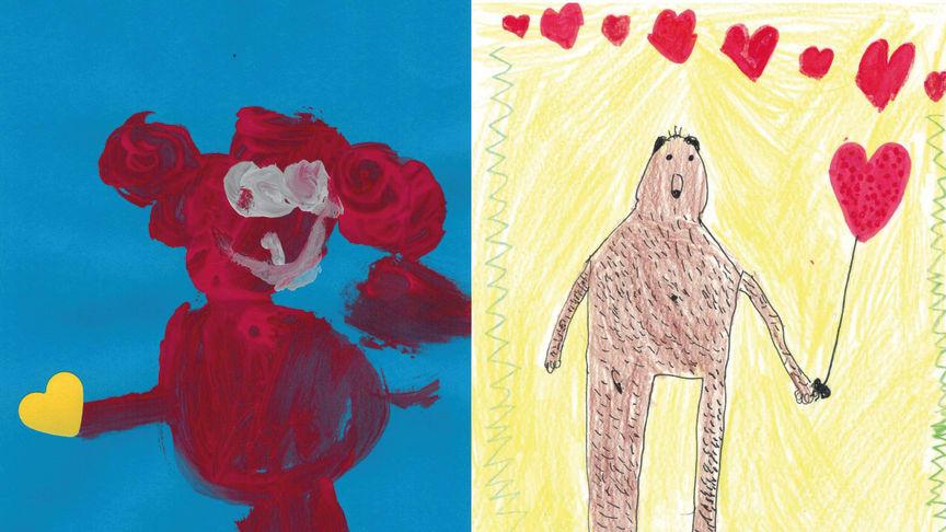 """Prämierte Bilder aus dem Malwettbewerb """"Bär mit Herz"""""""