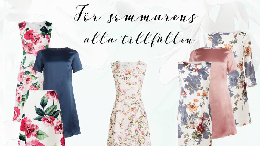 Maja klänning vit ros Dughult of Sweden