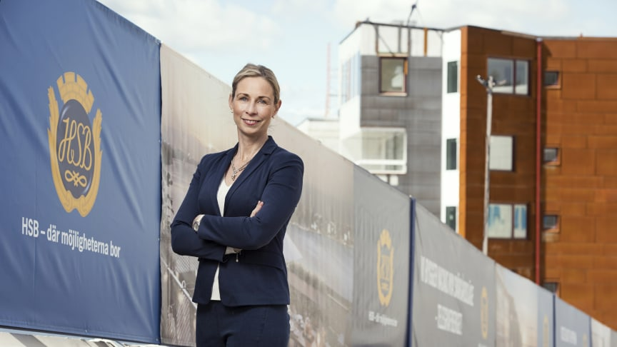 """Tio kommuner slåss om förstaplatsen i """"Årets Arkitektkommun"""". På bilden: Pernilla Bonde, vd HSB Riksförbund."""