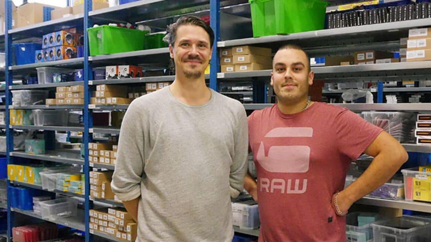 Markus Stenberg och Simon Wahlgren på Teknikproffset