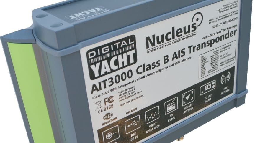 Nucleus AIS Transponder from Digital Yacht to launch at the Southampton Show