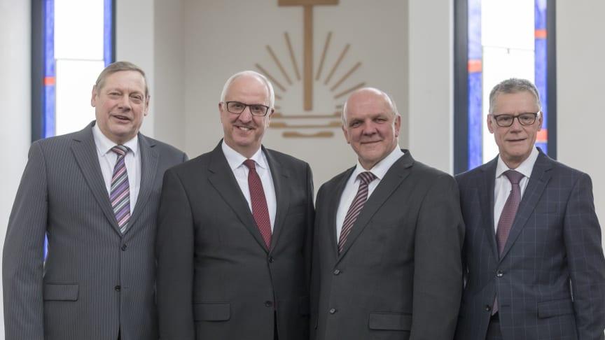 Die AG Kontakte zu Konfessionen und Religionen, von links: Rolf Wosnitzka, Volker Kühnle, Peter Johanning und Clément Haeck