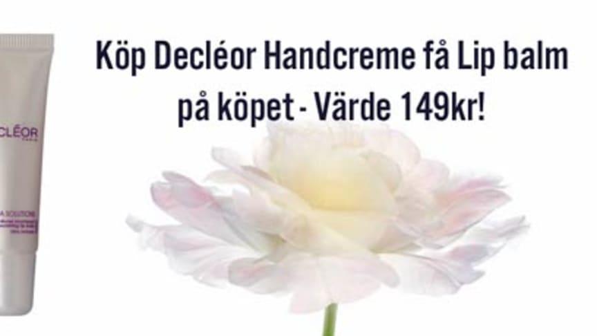 Decléors Läppbalsam värde 149kr på köpet! Gäller fram till kl 24.00 på söndag.