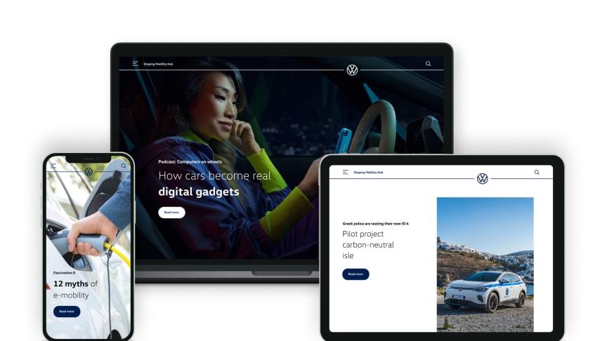 Volkswagen lancerer ny website, der giver dig indsigt i fremtidens mobilitet