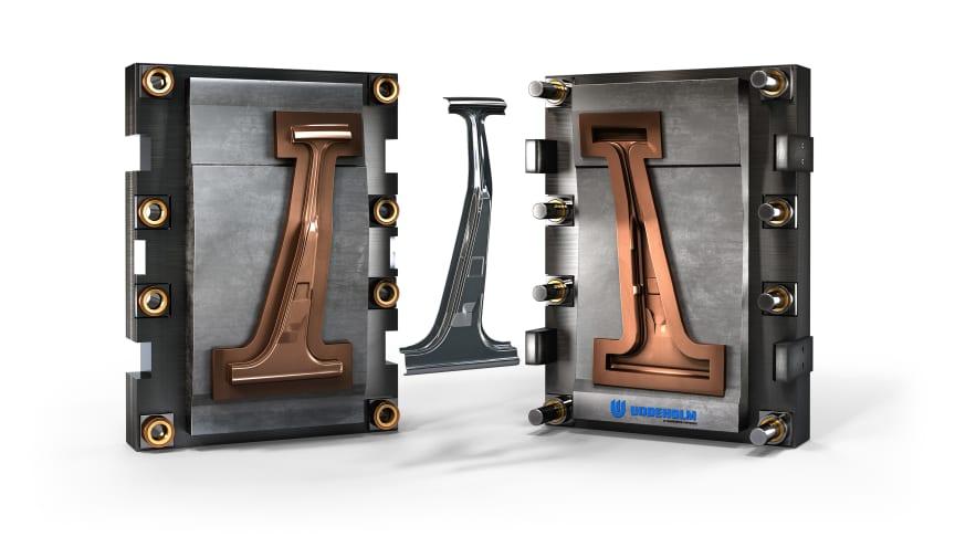 Uddeholm tool for B-pillar, coated