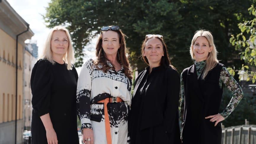 From left Chicie Lindgren, Sanna Gebeyehu, Hanna Nova Beatrice och Sara Ek