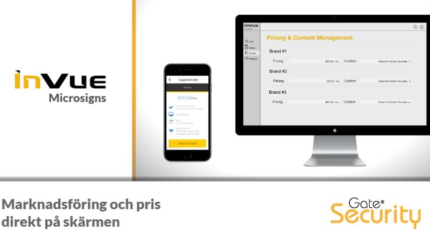 InVue Microsigns är ett molnbaserat verktyg som distribuerar information ut till surfplattor och smartphones.