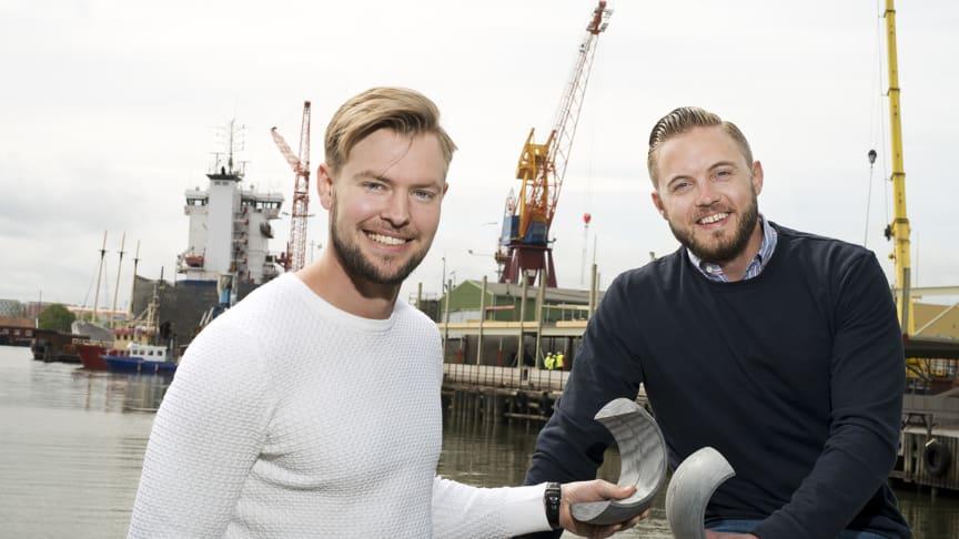 Fredric Johansson och Markus Leufkens, två av Scandinavian Frictions experter på kompositlager.