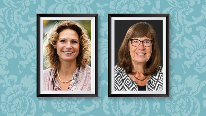 Högre särskilt stipendium har tilldelats professor Pernilla Nilsson (t.v) och professor Ingrid Carlgren (t.h)