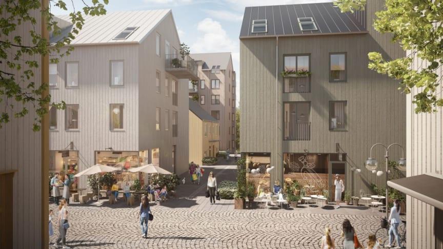 I centrala Kungälv projekterar Balder 124 moderna bostadsrätter och cirka tio lokaler. Bostäderna förmedlas av Bjurfors Nyproduktion, och första inflyttning är planerad till årsskiftet 2022/2023.
