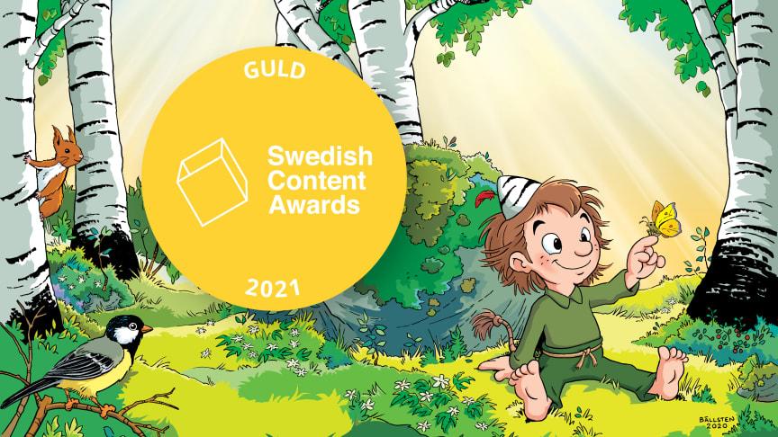 Story House Egmont vinner prestigefyllt pris för varumärkesresa med Skogsmulle