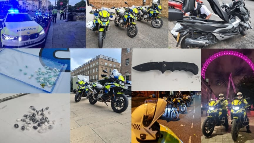 Met officers trained in fast pursuit recover knives and drugs in police operation