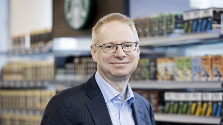 """""""Nestlé har oprettet et emballage-forskningscenter, og vi har afsat 14 milliarder kr. til at skabe et marked for genbrugsplast,"""" siger Martin Broberg, Nestlé Danmarks kommunikationschef. (Foto: Søren Svendsen)"""