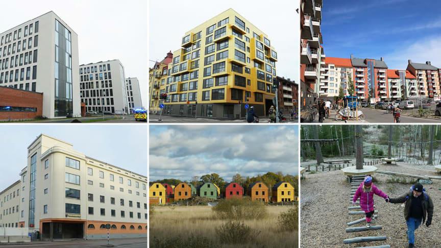 H-huset USÖ, Kvarteret Stenen, Mejeriområdet, Hakonhuset, Kvarteret Rördromen, Äventyrsstigen. Foto: Örebro kommun.
