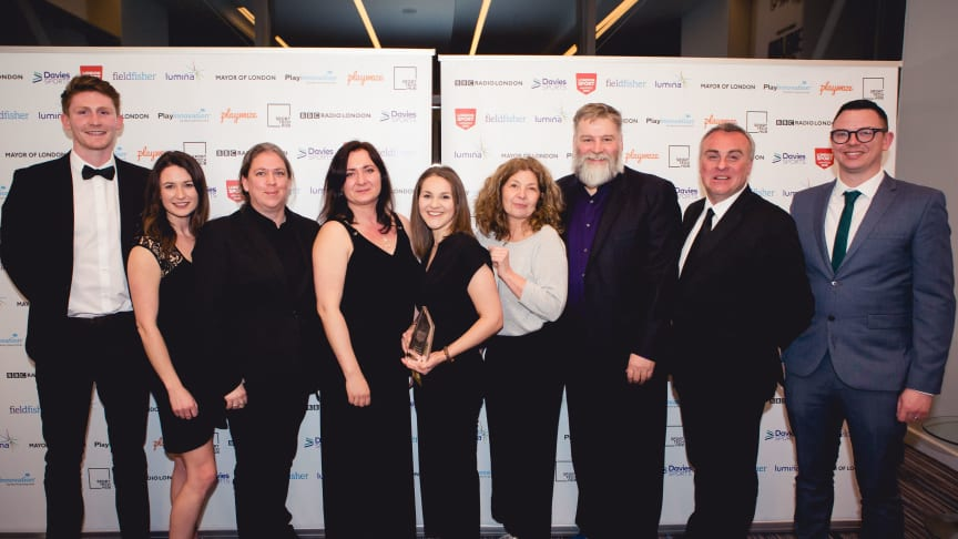 The Single Homeless Project celebrate collecting the Physical Activity for Health Award at the 2019 London Sport Awards