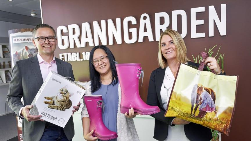 Dag Widell, CIO på Granngården, Nga Huynh, Test Manager på System Verification och Maria Sonesson, CFO på Granngården.