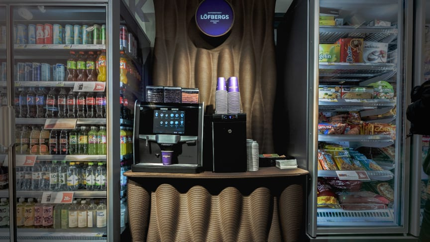 The first circular coffee station is already set up at the Lilla ICA Lindvallen supermarket in Sälen, Sweden, and more are underway.