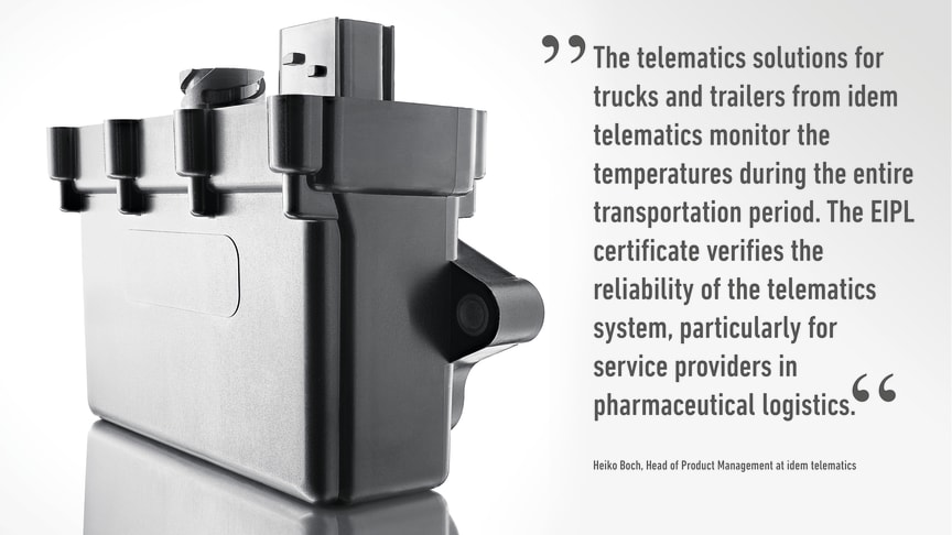 In cooperation with the European Institute for Pharma Logistics GmbH (EIPL), telematics solutions from idem telematics are qualified for temperature-controlled transports directly during installation.