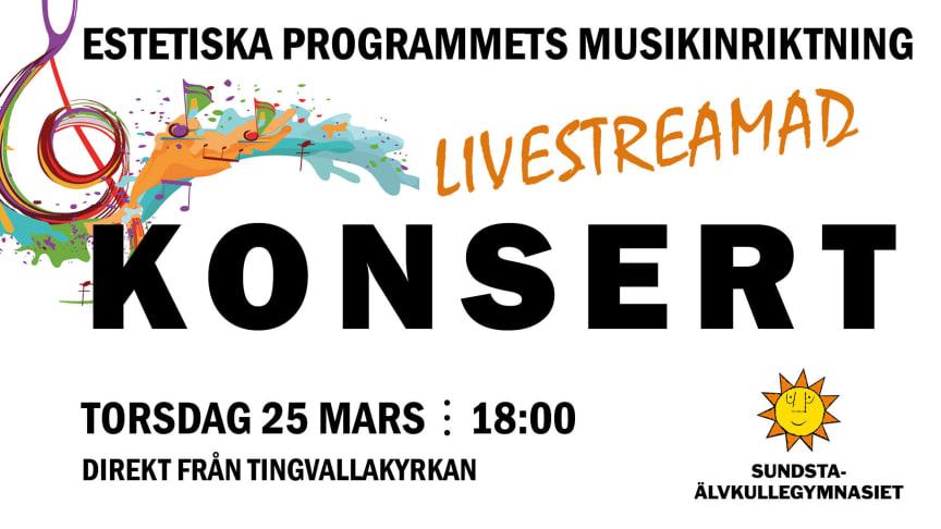 Sundsta- Älvkullegymnasiet bjuder på digital konsert