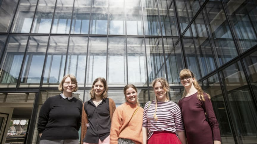 Fr vänster: Ellen Arolin, Linnéa Eriksson, Lovisa Norrsell, Mikaela Svensson och Anna Tenggren.