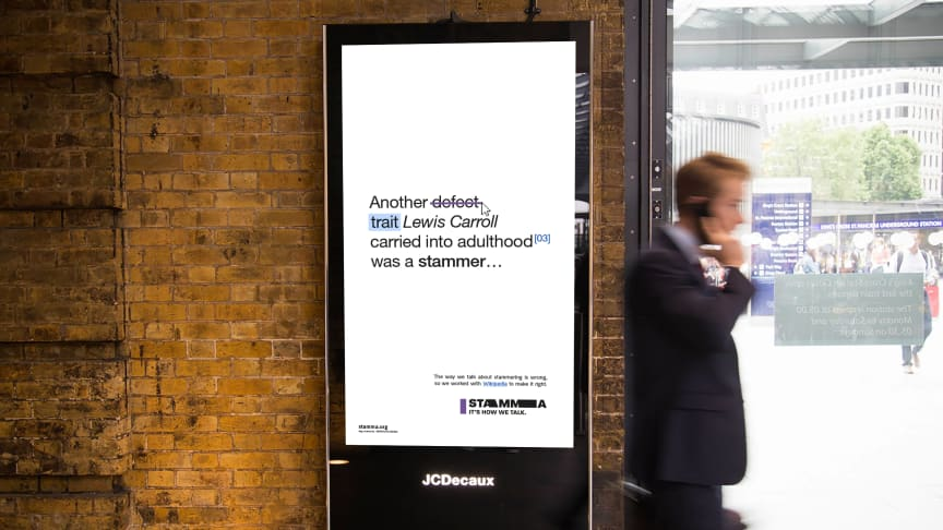Lewis Carroll 'Find the Right Words' campaign advertisement