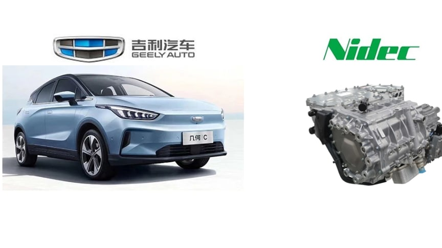 Geely's new electric SUV Geometry C and Nidec's Fully Integrated 150 kW E-Axle Ni150Ex