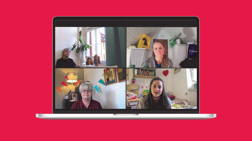 Ulla Tylén, Birgitta Rydberg, Evamaria Björk och Sasha Becker medverkar i relationsdramat Trädgårdsgatan. Digital premiär 20 februari.
