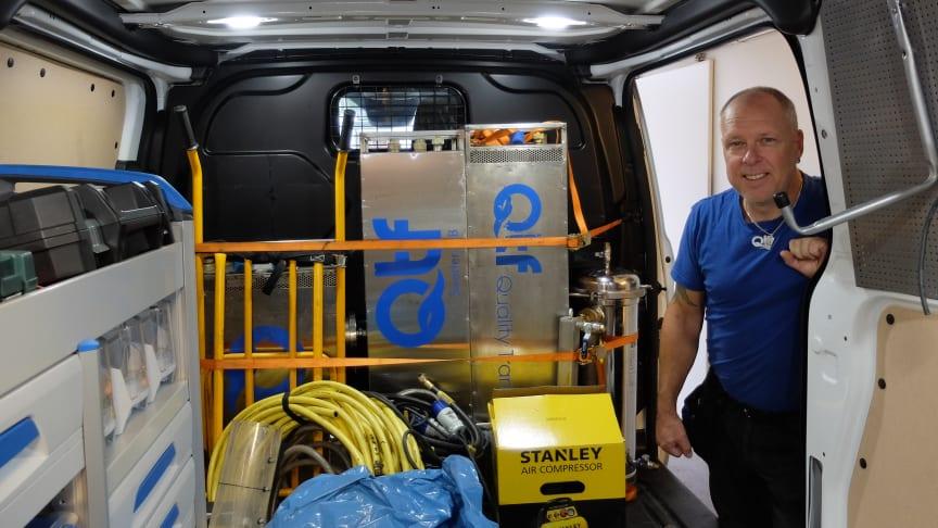 """""""Falken"""" från QTF Rescue Team på väg ut på uppdrag"""