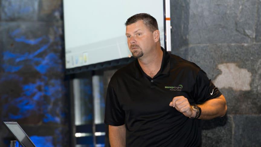 Derek Malber, Microsoft MVP, på ManageEngine Användarkonferens.