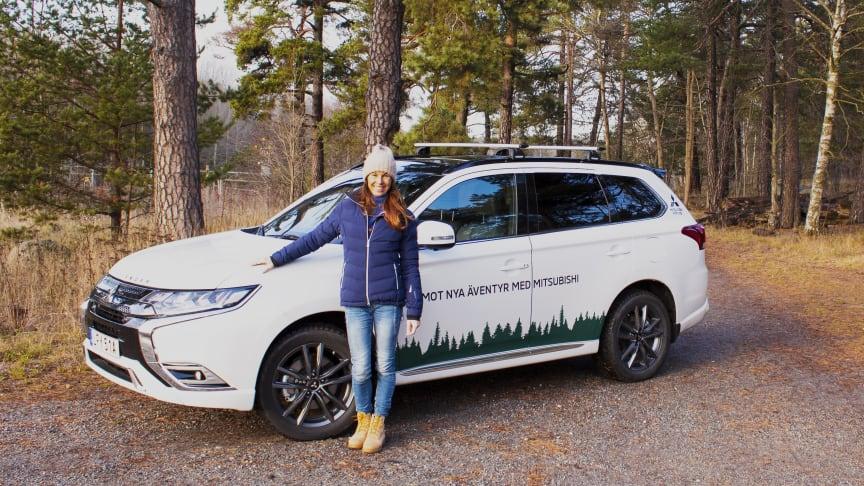 Magdalena Forsberg och Mitsubishi Outlander PHEV (modellår 2020)