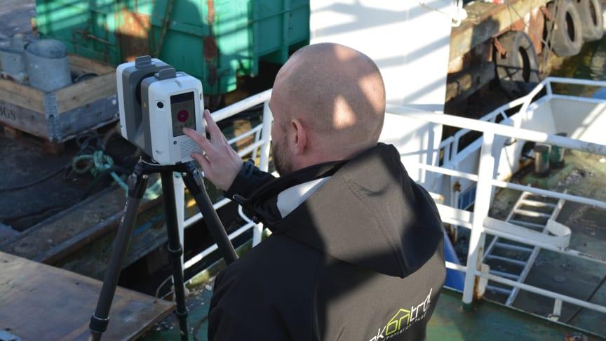 Renoveringsprojekt af færge med RTC360-laserscanner