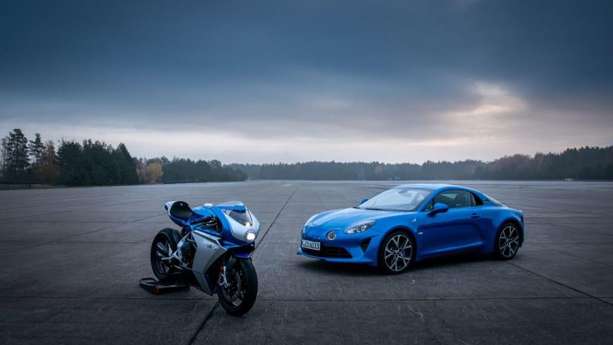 Alpine er et ikonisk mærke under Groupe Renault. Nu lanceres en Alpine version af den legendariske Italienske motorcykel MV Agusta