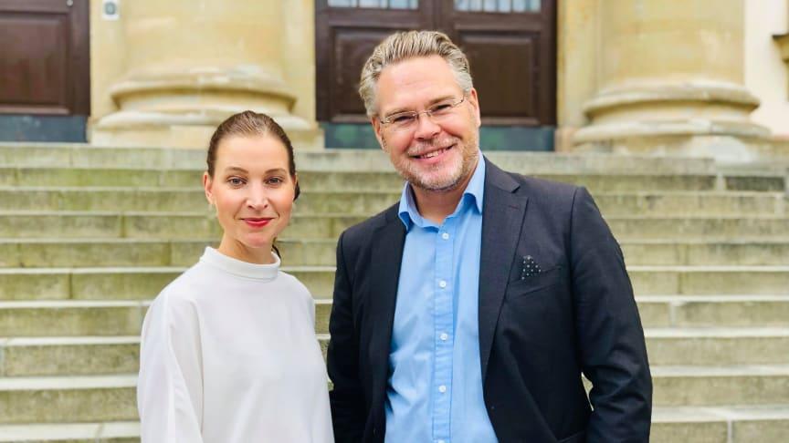 Ella Bohlin, äldre- och vårdutvecklingsregionråd (KD) & Tobias Nässén, vård- och valfrihetsregionråd (M)