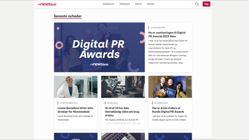 Mynewsdesk lancerer nyt design - den største opdatering i 11 år