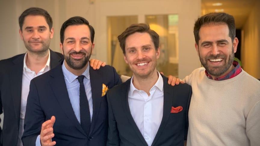 Safa Soltani, Gabriel Ghavami, Henrik Anderberg och Reza Ghazizadeh är den nya ägarkonstellationen på GO MO Group.