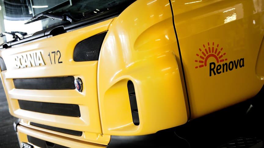 Renovas tunga fordonsflotta kör fossilfritt sedan 2015. Nu utvecklar man en sobil som drivs med el från bränsleceller.