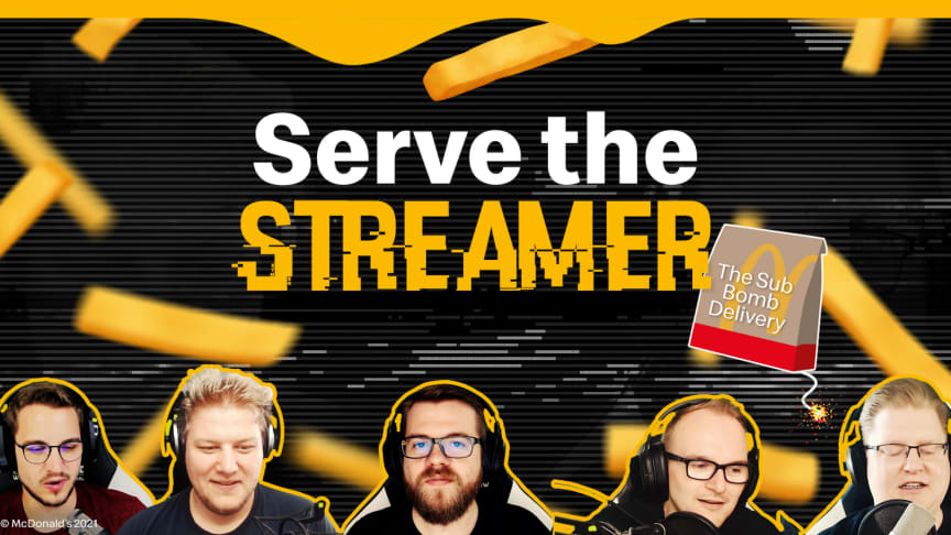 McDonald's und Let's Play-Quintett PietSmiet überraschen gemeinsam kleine Streamer auf Twitch