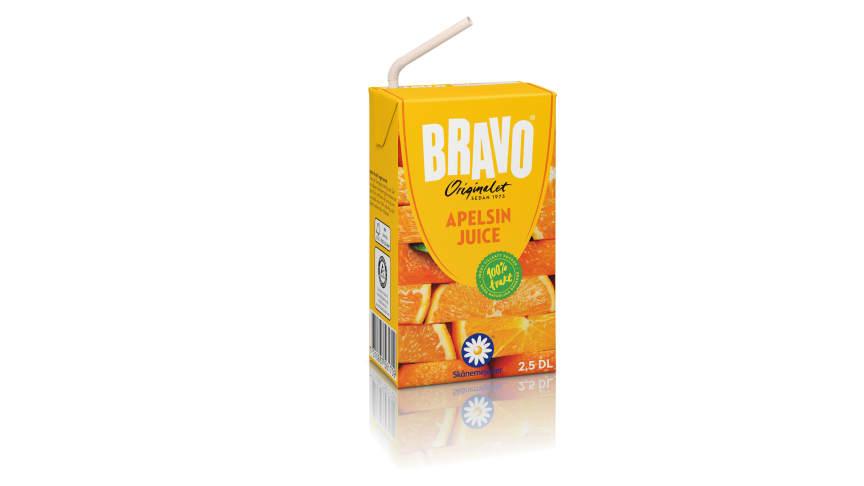 Bravo portionsförpackningar - nu med sugrör i papper